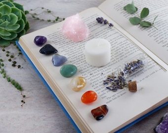 Chakra Crystals Gift Set. Chakra Stones. Gemstones. Reiki. Crystal Healing. Healing Crystals Set. 7 Chakra Set. Wellbeing. Meditation.