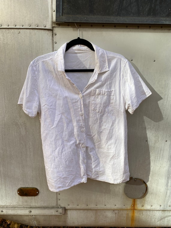 White Out Linen Button Up