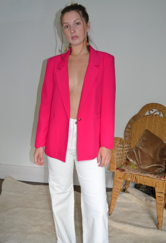 Hot Pink Blazer Made in Canada