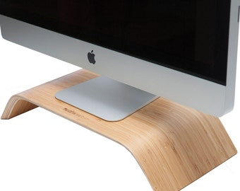 Wood Monitor Riser | Wooden Desktop Stand | Desk Collection | Home – Office Décor | Bamboo Wood Stand | Unique Stand