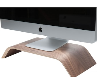 Wood Monitor Riser | Wooden Desktop Stand | Desk Collection | Home – Office Décor | Walnut Wood Stand | Unique Stand