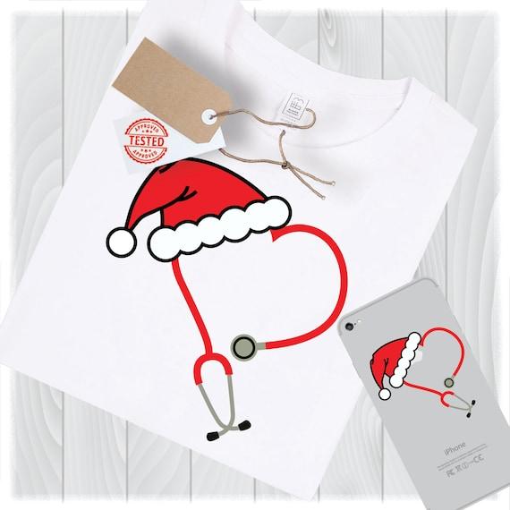 Nurse Christmas Svg.Svg Christmas Svg Nurse Svg Nurse Christmas Svg Svg File Stethoscope Svg Santa Hat Svg Nurse Squad Svg Nurse Life Svg Nursing Svg