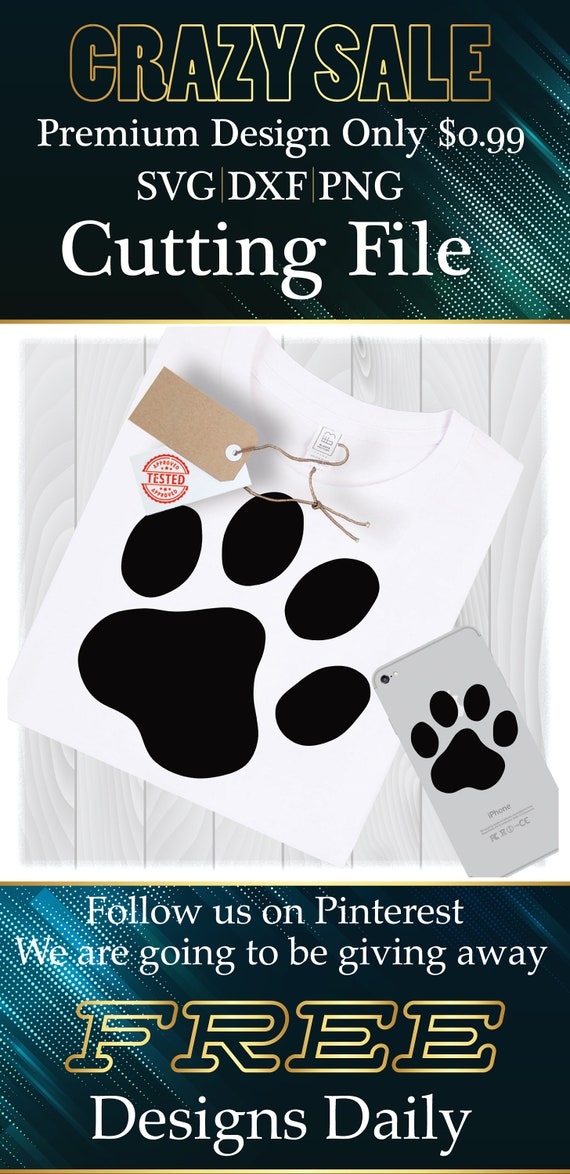 Dog Paw Print Svg Files For Cricut Designs Dog Svg Dog Paw Etsy
