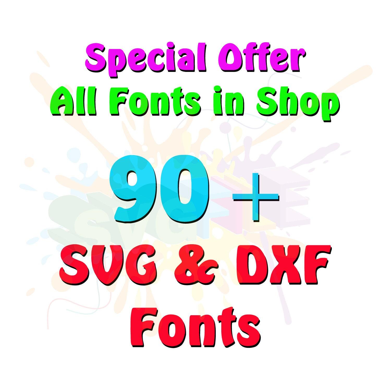 Download SVG Font Bundle Monogram Cutting Files for Cricut Cut ...