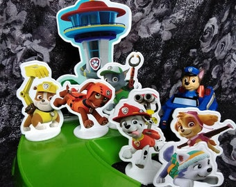 Paw Patrol Multi-Tier Cake Kit -- Pups to the rescue! -- Chase lights up!