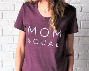 Mom Squad Tee // Heather Plum Mom Tee // Mom Tee // Mom Squad Shirt // Funny Mom T-Shirt // Mom Life Shirt