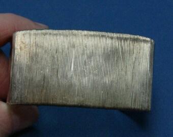 Vintage Modernist 925 Sterling Silver Wire Wrapped Cuff Bracelet