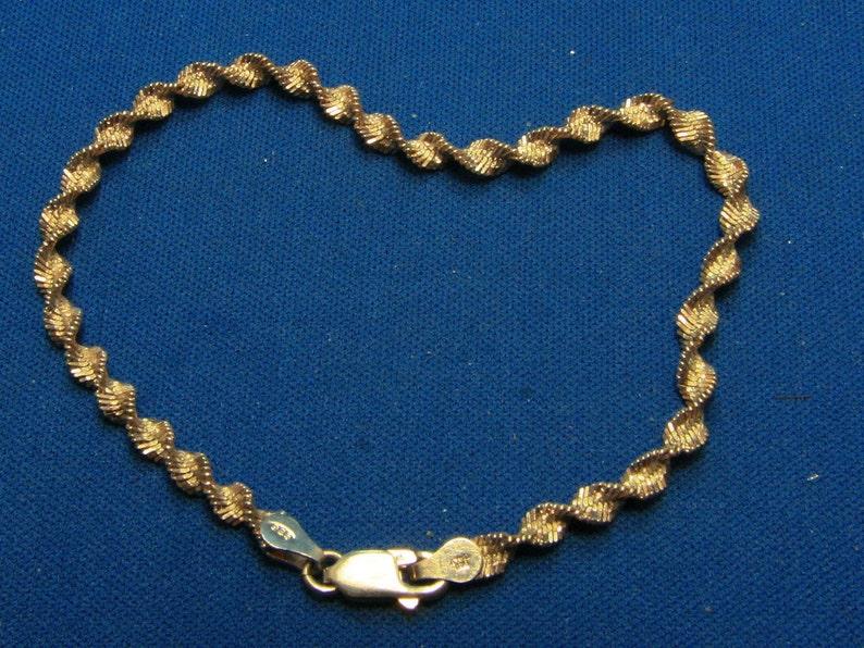b119a1f174b4 Vintage Plata 925 italiano trenzado pulsera de espiral
