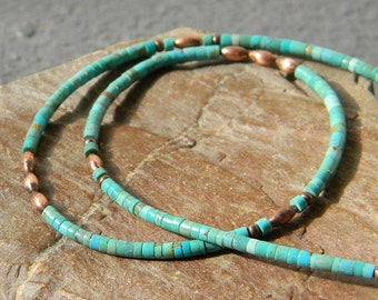 Nevada Turquoise Necklace, Minimalist Necklace, insp. by, Native American Jewelry, Boho, Tribal, Southwestern Necklace, Gemstone Necklace