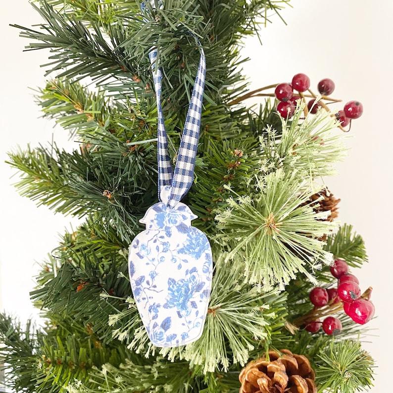 Blue and White Christmas Chinoiserie Ginger Jar Ornament Chinoiserie Ornament Set Nutcracker Ornament Blue /& White Ornament Set