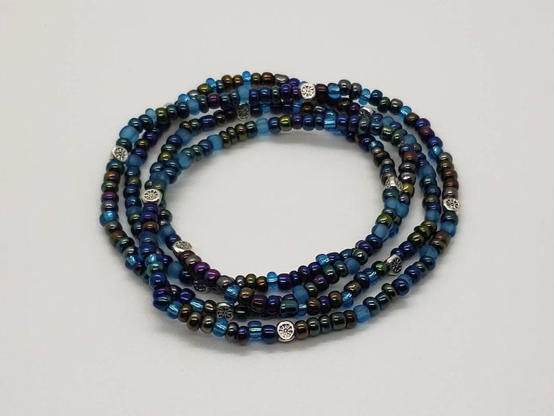 waist beads Midnight Blue