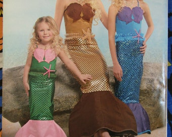 Simplicity 8198 Mermaid Tail Adult and Girl's Costume Sewing Pattern all sizes alternate call number D0515