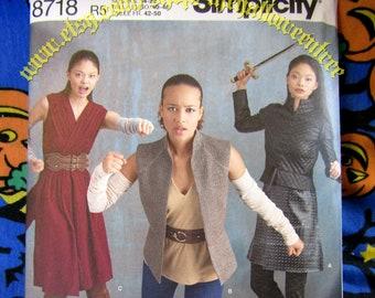Simplicity 8718 Viking Sheild Maiden Medieval Renaissance M-XL costume SEWING PATTERN s8718