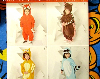 834d28283e6b Simplicity 1351 Kids Animal Kigurumi costume pattern Fox