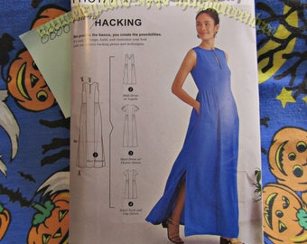 b640d74422 Simplicity 8888 Versatile Dress Sewing pattern with Options for Design  Hacking XXS to XXL