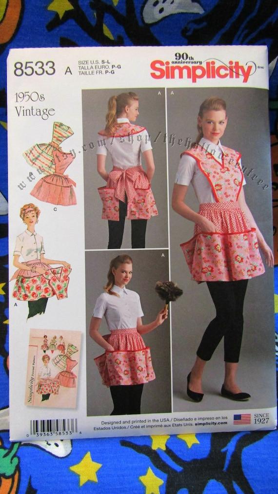 Patron de couture tablier vintage simplicité 8533 avec bavoir | Etsy