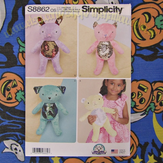 Simplicity Sewing Pattern Soft Toy 8716 OS