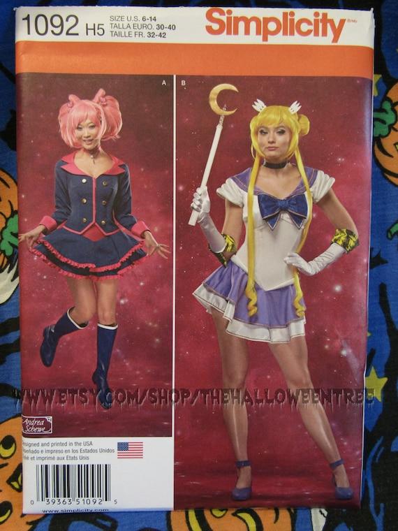 Einfachheit 1092 Sailor Moon Anime Kostüm Kleid Schnittmuster | Etsy