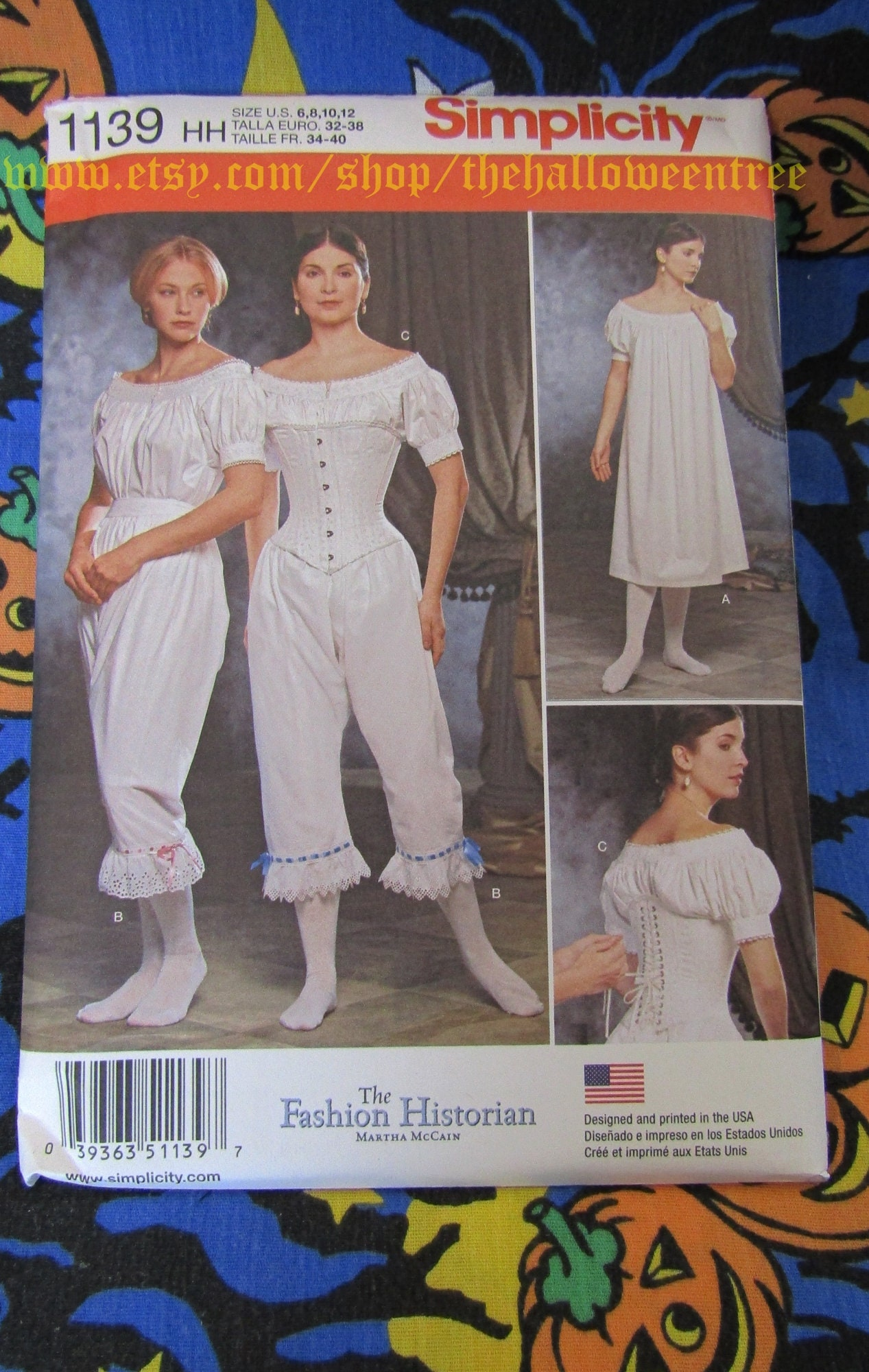Simplicity 1139 Womens Civil War Historical Costume Sewing Pattern Sizes 6-12