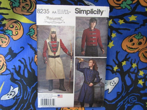 Simplicity Mens Sewing Pattern 8235 Cosplay Costume Simplicity-8235-M