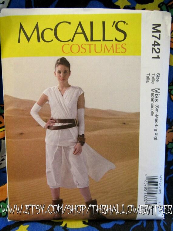Star Wars Rey McCall 7421 Halloween Kostüm Schnittmuster die | Etsy