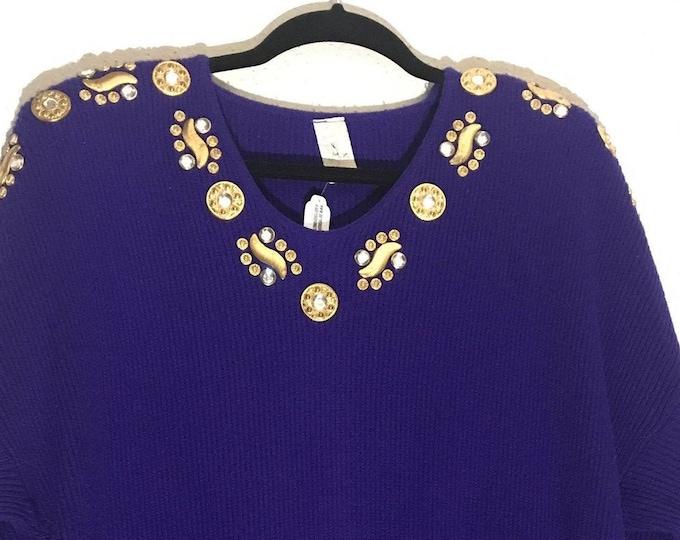 Vintage Embellished Sweater