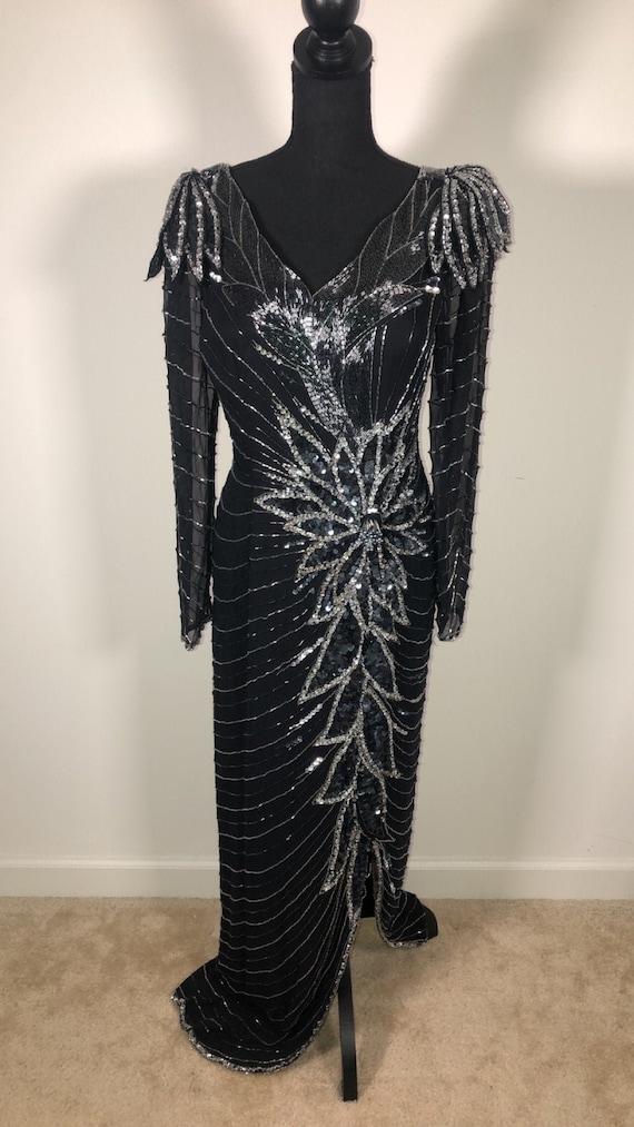 1980s Vintage Sequin Dress