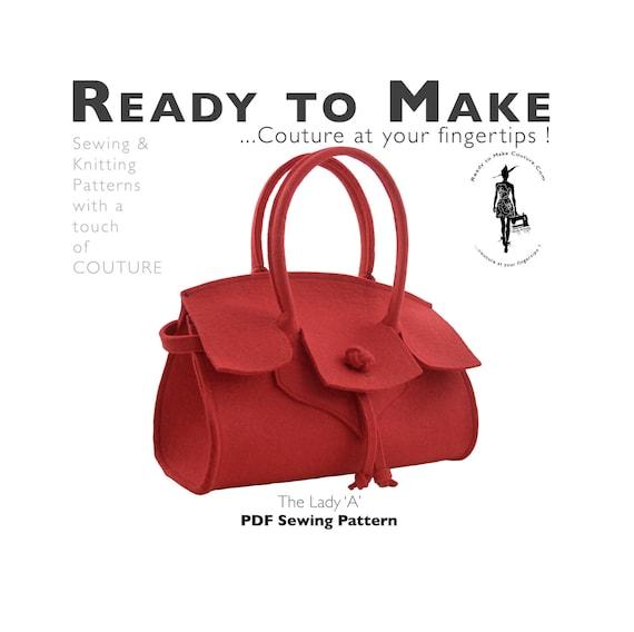 PDF-Schnittmuster High-Fashion Handtasche Tasche Geldbörse | Etsy