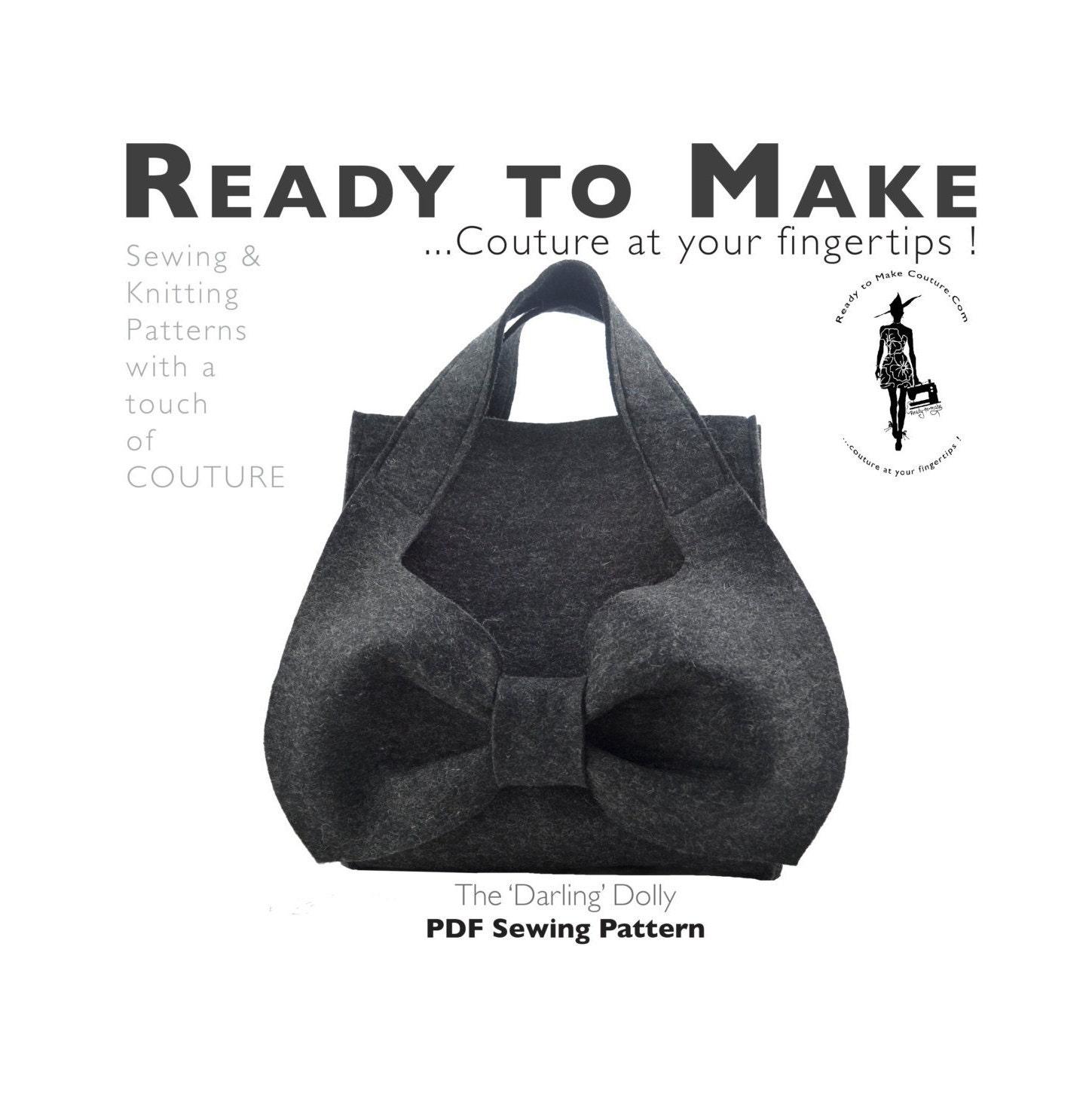 Patrón de costura PDF moda diseñador bolso Hobo bolso hecho | Etsy