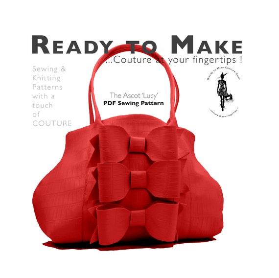 PDF-Schnittmuster Frauen High-Fashion Handtasche Handtasche | Etsy