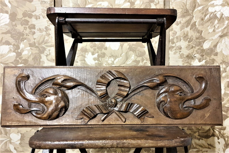 Fabulous Architectural Salvage Bow Griffin Pediment Antique French Wooden Panel Trim Bralicious Painted Fabric Chair Ideas Braliciousco