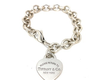 3a034f66f Tiffany & Co. Sterling Silver Return To Tiffany Heart Tag Bracelet