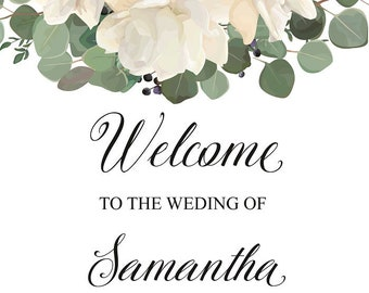 Welcome Sign | Wedding, Engagement, Baptism | A1
