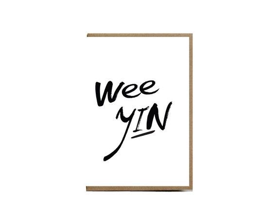 Szkocka Karta Podarunkowa Wee Yin Etsy