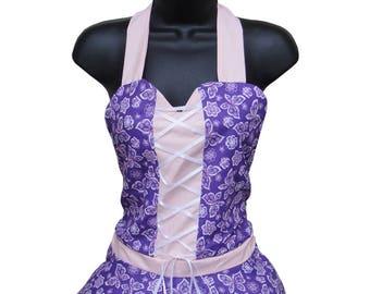 Purple and Pink Cute Apron, Lolita Apron, Kitchen Apron