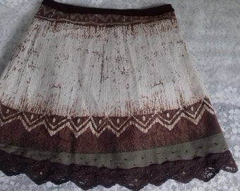 Running skirt cotton lace silk-lined for teenagers