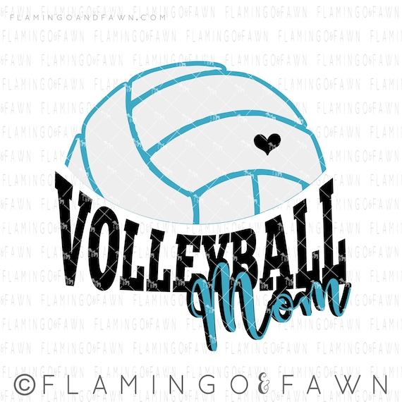 Svg Volleyball Mom Cut File Design Volleyball Mom Svg Files Etsy