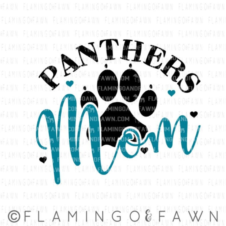 Panthers football mom svg football svg files Panthers spirit  cb49b93ef