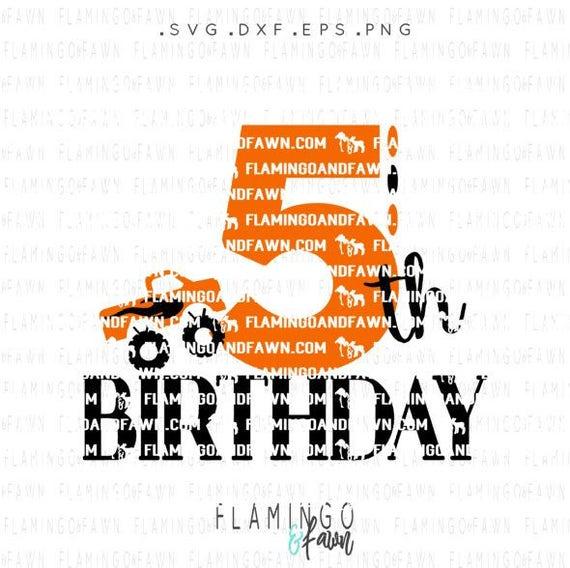 5 Geburtstag Junge Svg Fünften Geburtstag Svg Etsy