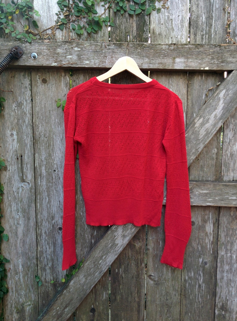 Vented Italian Red Sweater70/'s Red SweaterFitted Red SweaterItalian MadeMesh Sweater22Long40Chest27Sleeve*FREE GIFT WRAP*
