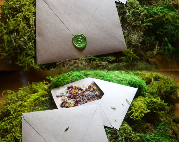 Herb Packed Spell Envelopes for your Altar and Cauldron