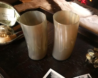 "Natural Buffalo Horn Cup ""The Cheif's Cup"""