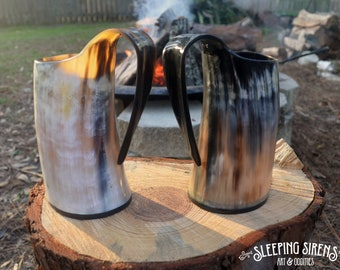 "Natural Buffalo Horn Mug ""The Shaman's Tankard"""