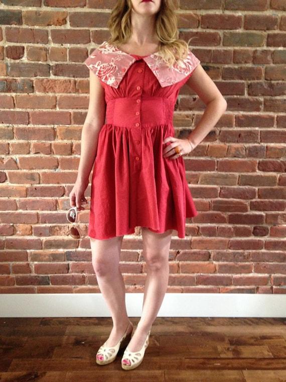 Vintage pink summer dress
