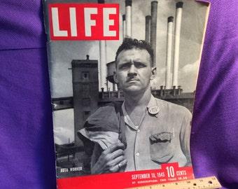 Life Magazine Auto worker  September 1945