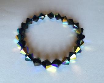 Gorgeous 8mm Swarovski Crystal Stretch Bracelets