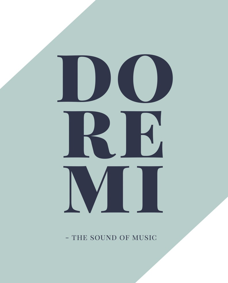 The Sound of Music: Do Re Mi, Broadway, Musical Theatre, Typography  Printable, Instant Digital Download, Wall Art Print 8x10