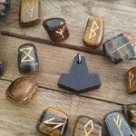 Mini Primal Mjolnir Pendant Buffalo Horn Shaman Necklace Thors Hammer Mjollnir Heathen Viking Norse Pagan Nordic Ulfhednar Occult Tribal