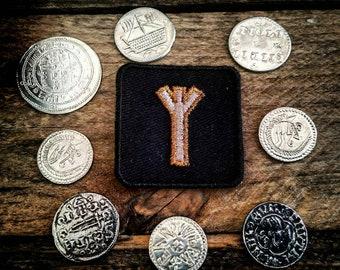 Copper Algiz Rune Patch Runic Biker Badge Runology Viking Runes Eldar Futhark Norse Magick Heathen Pagan Patches