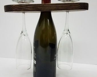Wine and Two Wine Glass Carrier